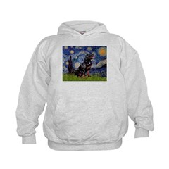 Starry/Rottweiler (#6) Kids Hoodie