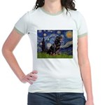 Starry/Rottweiler (#6) Jr. Ringer T-Shirt