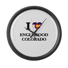 I love Englewood Colorado Large Wall Clock
