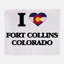 I love Fort Collins Colorado Throw Blanket