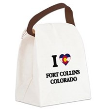 I love Fort Collins Colorado Canvas Lunch Bag