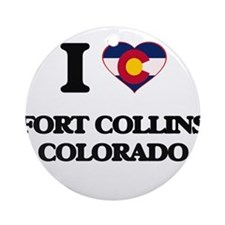 I love Fort Collins Colorado Ornament (Round)