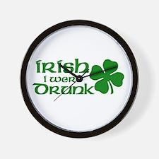 Irish Drunk Wall Clock