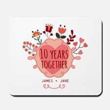Personalized 10th Anniversary Mousepad
