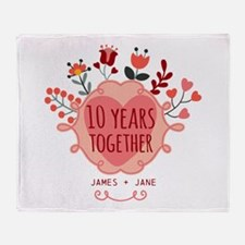 Personalized 10th Anniversary Throw Blanket