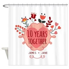 Personalized 10th Anniversary Shower Curtain