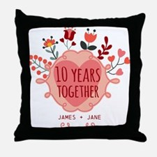 Personalized 10th Anniversary Throw Pillow