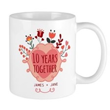 Personalized 10th Anniversary Mug