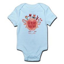 Personalized 10th Anniversary Infant Bodysuit
