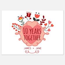 Personalized 10th Anniversary Invitations