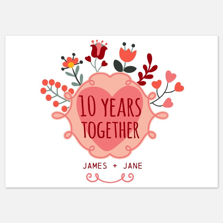 10 Year Wedding Anniversary Invitations: 10Th Wedding Anniversary Invitations For 10th Wedding