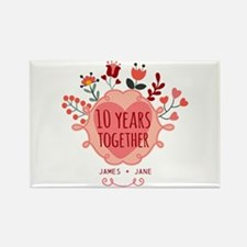 Personalized 10th Anniversary Rectangle Magnet