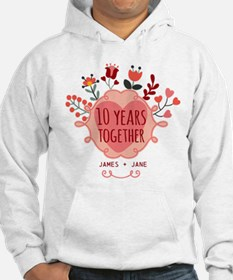 Personalized 10th Anniversary Hoodie