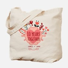 Personalized 10th Anniversary Tote Bag