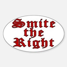 Smite the Right Oval Decal