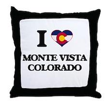 I love Monte Vista Colorado Throw Pillow