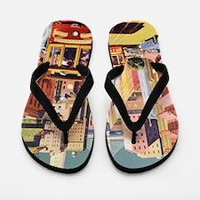 Vintage Travel Poster San Francisco Flip Flops