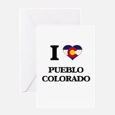 I love Pueblo Colorado Greeting Cards
