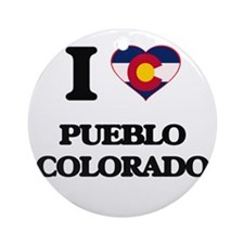 I love Pueblo Colorado Ornament (Round)