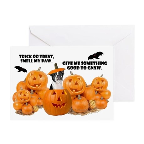 Trick Or Treat (Boston Terrier) Greeting Card