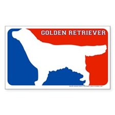 """Golden Retrever"" MLD Rectangle Decal"
