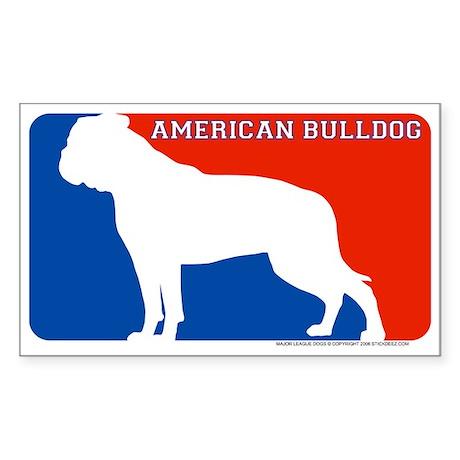 """American Bulldog"" MLD Rectangle Sticker"