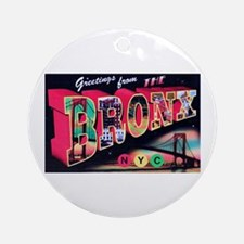 Bronx New York City Ornament (Round)