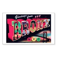 Bronx New York City Rectangle Decal