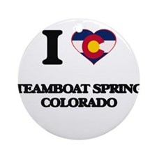 I love Steamboat Springs Colorado Ornament (Round)