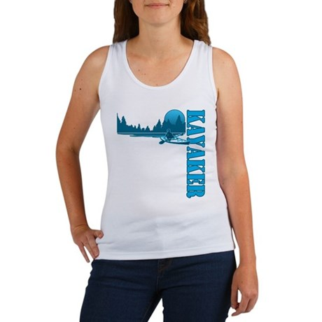 Kayaker (Blue) Women's Tank Top