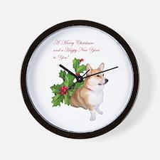 PWC-CHRISTMAS CORGI Wall Clock