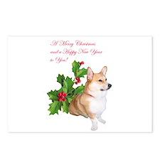 PWC-CHRISTMAS CORGI Postcards (Package of 8)