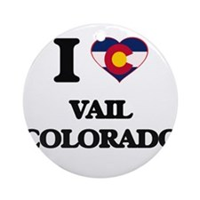 I love Vail Colorado Ornament (Round)