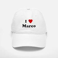 I Love Marco Baseball Baseball Cap