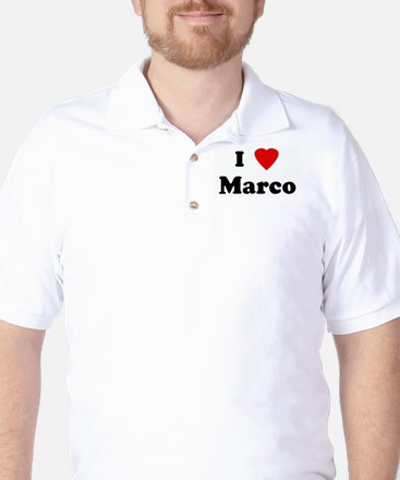 I Love Marco Golf Shirt