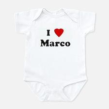 I Love Marco Infant Bodysuit