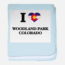 I love Woodland Park Colorado baby blanket