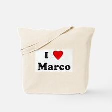 I Love Marco Tote Bag