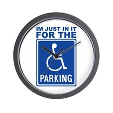 Handicap Parking Wall Clock