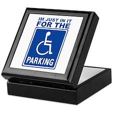 Handicap Parking Keepsake Box