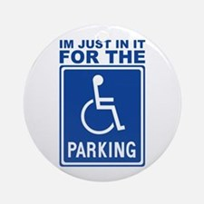 Handicap Parking Ornament (Round)