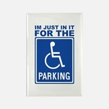 Handicap Parking Rectangle Magnet