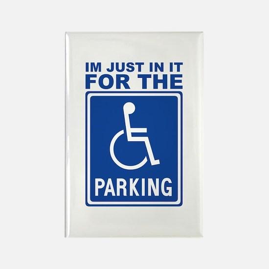 Handicap Parking Rectangle Magnet