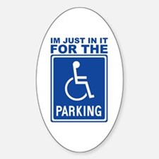 Handicap Parking Oval Decal