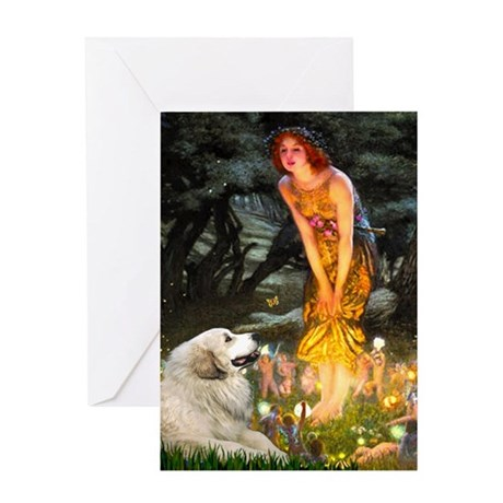 Midsummers Eve & Great Pyrenees Greeting Card