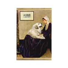 Whistlers Mom & Great Pyrenees Rectangle Magnet
