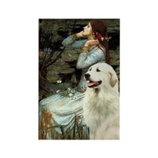 Ophelia (#2) & Great Pyrenees Rectangle Magnet