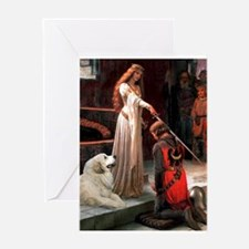 The Accolade & Great Pyrenees Greeting Card