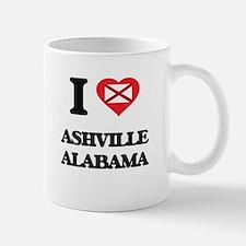 I love Ashville Alabama Mugs