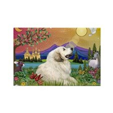 Great Pyrenees in Fantasy Land Rectangle Magnet
